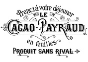 French Typography Cacao payraud (1 pc) 7.6cm - 1.3cm - Black 16CC681 Fused Glass Decal