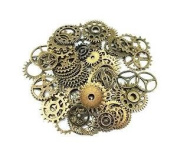 Sunshine Antique Steampunk Gears Charms Pendant Clock Watch Wheel Gear for Crafting, Jewellery Making Accessory