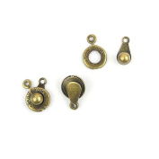 Price per 510 Pieces Fashion Jewellery Making Charms Findings Arts Crafts Beading Antique Bronze Tone 17492 Chain Snap Fastener