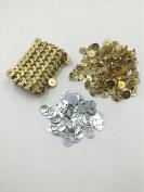 100 Sets Tone Magnetic Gold Purse Snap Clasps/ Closure Purse Handbag 14mm