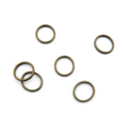 Price per 150 Pieces Fashion Jewellery Making Charms Findings Arts Crafts Beading Antique Bronze Tone A4SE1 Jump Ring 18mm