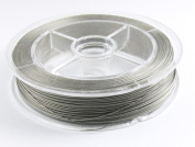 100M Beading Wire Jewellery Cord-SILVER TIGER TAIL 0.38mm