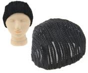 Black Weaving Braids Horseshoe Braided Regular Cap Crochet 50cm Circumference