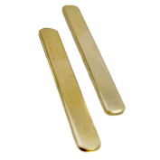 NinjaCrafters Ten (10) 0.6cm 18g Golden Brass Ring Blanks for Stamping - Thick 14 Gauge - Tumbled, Polished - Finished Blanks - MIXED SIZES