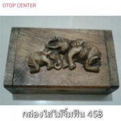 Box of toothpicks made of wood handicraft crafts from Thailand 100%.