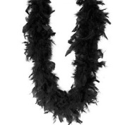 Feather Boa - 1.8m Chandelle 60 Gr Black