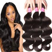 KLAIYI Hair Brazilian Cheap Body Wave Hair 3 Bundles Good Quality Grade 6A Raw Virgin Hair Weave Human Hair Extensions Natural Hair Colour 95-100g/pc