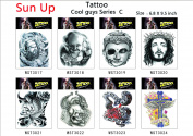 Sun Up Cool Temporary Tattoo for Cool guys Series /8-pack