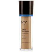 Boots No7 Lift & Luminate Foundation Chestnut