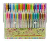Asvine 48 Colour Gel Pen Set Professional Artist Quality Gel Ink Pens 1.0mm Point inlcuding Neon, Pastel, Metallic, Glitter Colour