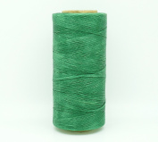 GREEN 1x0.5mm Flat Waxed Braided Polyester Cord Beading Jewellery Leather Craft Stitching String