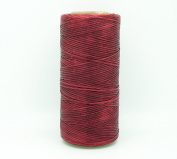 BURGUNDY 1x0.5mm Flat Waxed Braided Polyester Cord Beading Jewellery Leather Craft Stitching String