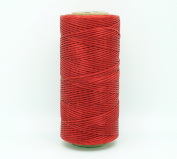 RED 1x0.5mm Flat Waxed Braided Polyester Cord Beading Jewellery Leather Craft Stitching String
