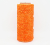NEON ORANGE 1x0.5mm Flat Waxed Braided Polyester Cord Beading Jewellery Leather Craft Stitching String