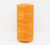 GOLDEN YELLOW 1x0.5mm Flat Waxed Braided Polyester Cord Beading Jewellery Leather Craft Stitching String