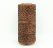 BROWN 1x0.5mm Flat Waxed Braided Polyester Cord Beading Jewellery Leather Craft Stitching String