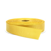 2.5cm Gold Double Face Solid Grosgrain Ribbon 50 Yards-Roll Multiple Colours Available by Topenca Supplies