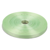 1cm Light Green Double Face Solid Satin Ribbon 50 Yards-Roll Multiple Colours Available by Topenca Supplies