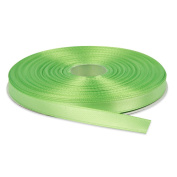 1cm Apple Green Double Face Solid Satin Ribbon 50 Yards-Roll Multiple Colours Available by Topenca Supplies