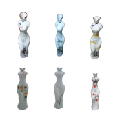 A Set-Chinese Style Hand Painted Classical Cheongsam Modelling Vase-6pcs