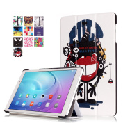 Huawei MediaPad T2 10.0 Pro Case,SAVYOU Ultra Slim 3-Folding PU Leather Smart Stand Cover Case For Huawei MediaPad T2 10.0 Pro 26cm Tablet,Strange mouth