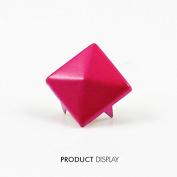 200pcs Steampumk Craft Metal Painted Pink 4 Studs Prong Cone Spike Spot Tack Nailhead Rivet 12x12mm Garment Sewing Supplies K229