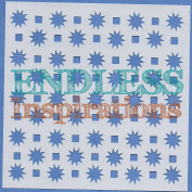 Endless Inspirations Original Stencil, 15cm x 15cm , Starbursts & Squares