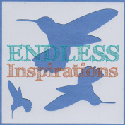 Endless Inspirations Original Stencil, 15cm x 15cm , Hummingbirds