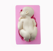 WYD Giant Baby Cake Decorating Silicone Fondant Cake Mould Baking DIY Tools 11cm x 6.6cm x 1.5.1cm