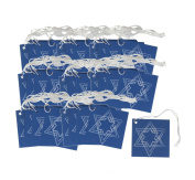 Iconikal Cardstock Tie-On Gift Tags 60-Count, Hanukkah