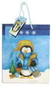 Gloss Finish Deluxe Gift Bag - Frosty Friends (Small