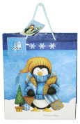 Gloss Finish Deluxe Gift Bag - Frosty Friends (Medium