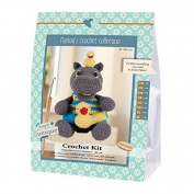 Go Handmade Helmut The Hippo 20cm Crochet Needlework Kit, All Parts & Materials Included!