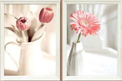 Dahlia DIY 3D Elegant Pink Flowers Counted Cross Stitch Kits 11CT Print Embroidery Handmade Needlework Wall Home Decor