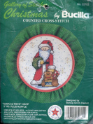 Bucilla Gallery of Stitches Counted Cross-Stitch Kit ~ Santa & Toys Hoop