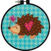 Dimensions Needlecrafts Learn-A-Craft Little Hedgehog Felt Applique Kit