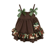 Stephan Baby Ruffled Swing Top and Nappy Cover, Camo Print, 6-12 Months