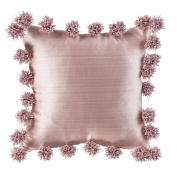 Glenna Jean Maddie Pillow, Pink with Pom Poms
