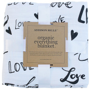 100% Organic Muslin Everything Blanket by ADDISON BELLE - Oversized 120cm x 120cm - Best Baby/Toddler Gift - Premium 4 Layer Muslin Blanket/Dream Blanket