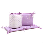 Purple Forest Animal Reversible Baby Crib Bumper by The Peanut Shell