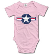 Air Force For Baby Unisex Romper Bodysuit Playsuit Outfits Short Sleeve
