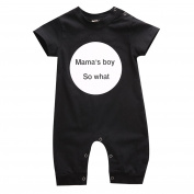 Infant Newborn Baby Girl Bodysuit Mama's Boy Romper Jumpsuit Outfits Clothes