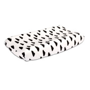 Black Cloud on White 100% Cotton Baby Changing Pad Cover by The Peanut Shell