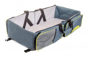 Ultimate Portable Bassinet- 3 in 1 Nappy Bag, Bassinet, & Portable Changing Station With Bonus Bed Sheet & Stroller Attachment, Perfect Baby Travel System Accessory & Travel Baby Bed For Girls & Boys