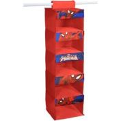Marvel Spider Man Red Hanging Organiser with 5 Storage Shelves