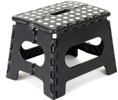 Acko 23cm x 28cm Black Folding Step Stool great for kids and adults. Holds up to 140kg