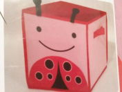 Child's Storage Bin Lady Bug Design Toys Books Shoes 2 Handles 28cm Canvas Square