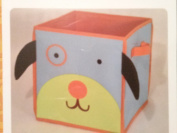 Child's Storage Bin Puppy Dog Design Toys Books Shoes Square Canvas Handles