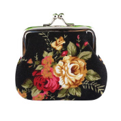 SMTSMT Women Retro Vintage Flower Small Wallet Hasp Purse