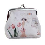 Mikey Store Womens Small Wallet Card Holder Coin Purse Clutch Handbag